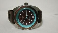 Zodiac Sea Dragon Rare Teal Highlight Brown Stainless Steel Watch ZS2291