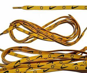 Shoe Laces Yellow With Nike Logo Unisex