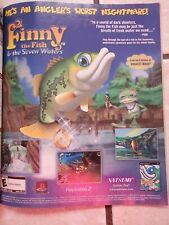 Finny the Fish & the Seven Waters Video Game Poster Ad Print Art