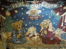 """Mww/Boyd""""s Collection Nativity """"Peace On Earth"""" Throw"""