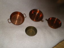 Vintage Children's Pans, Copper & Brass, No Maker Marks