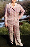 Vintage 1970's Womens Polyester Pant & Skirt Suit - Elastic Waist - NICE!