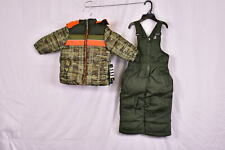 Infant Boy's Ixtreme 2 pc Set: Insulated Snow Jacket & Bibs, Olive Camo