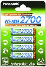 Panasonic High Capacity AA Mignon Ni-mh 2700 2700 Bk-3hgae / 4be