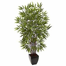 Nearly Natural 5458 Bamboo Silk Tree with Planter- 5' NEW