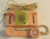 Vintage 1960s Type 182 Monophone Automatic Electric Pink Rotary Dial Phone Retro