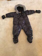 Unisex Da Neve Completo Da Sci Tuta BABY DIOR - 12 mesi-QUASI NUOVO con bordo del cappuccio in pelliccia