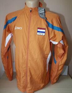 Team Nederlands Olympic Athletes Jacket mens Asics Holland Windbreaker Sz XL
