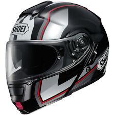 Shoei Neotec Imminent Flip Front Black White Motorcycle Helmet January Sale