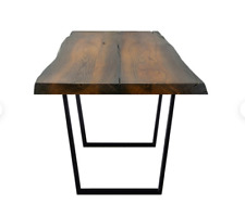 Live edge wooden dining table from reclaimed wood bog oak / Solid wood table, oa