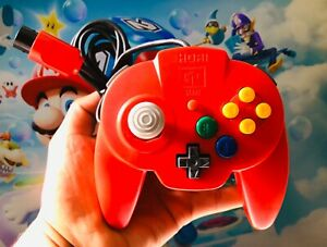 *OFFICIAL* RED Hori Mini Pad Wired Controller Nintendo 64 N64 *FAST* Shipping