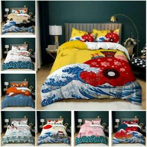 Japanese Ethnic Quilt Duvet Cover Bedding Set Pillowcase Single Double King Size