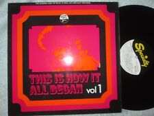 This Is How It All Began VOL 1 various Specialty Records SNTF 5002 vinyl album