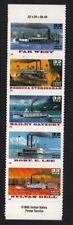 1996 Riverboats Sc 3095b SPECIAL DIE CUT strip of 5