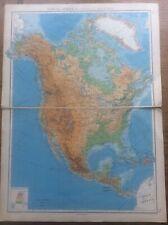 1942 Vintage John Bartholomew Atlas Map 20� North America Physical Features