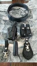Safariland Police Duty Belt w/ holster, flashlight, cuffs, magazine holders