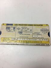 Da-Lite Lens Projection Screen Calculator 1974 Vintage