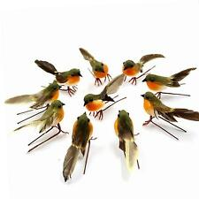 Yolococa 10PCS Robin Bird Christmas Tree Decoration Craft Artificial Feather