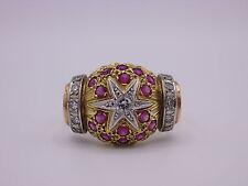 wunderschöner Rubin Diamant Ring 750 Gold 0,75 ct gesamt  Gr. 66 / 67  Indien ?