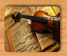 MUSIC BOOK AND VIOLIN INSTRUMENT MOUSE PAD -sed3Z