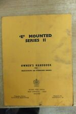 howard E mounted series 11 rotavator owners handbook vintage tractor rotary hoes