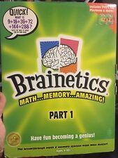 NIB Brainetics  Part 1 MATH.. Memory..Amazing! Includes DVD'd 1-2, Playbook & M