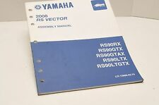Genuine Yamaha FACTORY ASSEMBLY SETUP MANUAL RS VECTOR 2008 LIT-12668-02-70