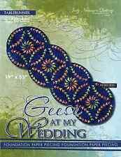 Geese at my Wedding  Paper Piecing Tabblerunner Pattern by Judy Niemeyer