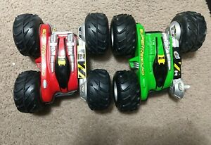 Lot of 2 Tyco R/C Car Super Rebound Green Yellow & Red Black FOR PARTS