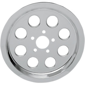 Drag Specialties - 80039S6 - Chrome Outer Rear Pulley Insert Harley-Davidson Tou