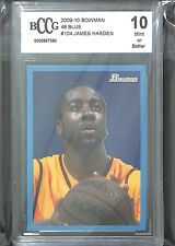 2009-10 Bowman 48 Style Blue Border #104 James Harden No 686 of 1948 BCCG 10