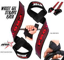 Wyox Power Weight Lifting Straps Hand Grip Gym Hook Wrist Support Strap Gloves
