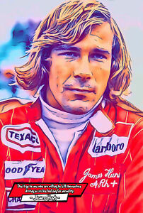 James Hunt Comic Icons Art Print (Available In 4 Formats)