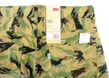 New Mens LEVIS 511 SLIM Chino 32 x 32 FOREST LEAVES beige/green pants leaf camo