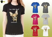 Chihuahua Graphic Women Shirt Funny Puppy Face Dog Ladies Shirts (19644hd4)