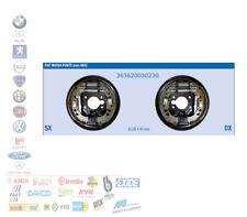KIT GANASCE MASSE FRENO FIAT DOBLO 223 1.2 1.6 1.9 JTD 363620030230