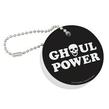 Ghoul Power Skull Girl Funny Humor Floating Keychain Round