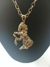 9ct Gold Large Horse Pendant / UK Hallmarked / 29.50 grams