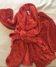 NWT Soma Luxe Textured Long Robe Raphael Red - Luxurious Bathrobe! Size XXL $88