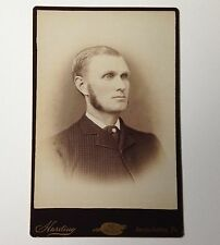 Antique Photo Susquehanna PA Cabinet Card Harding Man with Sideburns