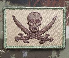 CALICO JACK NAVY SEAL PIRATE FLAG DEVGRU NSW MULTICAM VELCRO® BRAND FASTEN PATCH