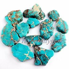 18mm-37mm Flat Baroque Sky Blue Crazy Lace Agate Loose Gemstone Beads Strand 15""
