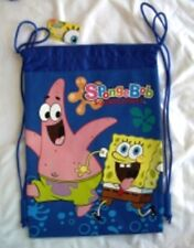 Blue SpongeBob SquarePants Drawstring Backpack Kid's Sling School Tote Bag New