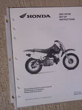 2003 honda motorcycle scooter xr70r set up instruction manual wiring diagram  l