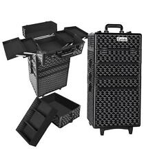 7 in 1 Portable Cosmetic Beauty Makeup Lockable Carry Case Trolley Box- Diamond