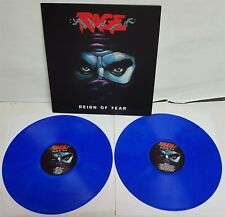 Rage Reign Of Fear BLUE Vinyl LP Record new