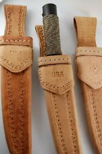 """Hand Made Leather Sheath For StraightBlade Knife Up To 10"""" Blade Fixed"""