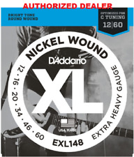 D'Addario EXL148 Electric Guitar Strings 12-60 Heavy Drop Tuning Nickle Wound