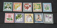 NIUE 1969 FLOWERS SET OF 10  FINE M/N/H