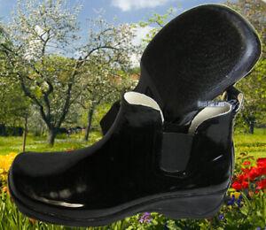 Damen Gummistiefel Gumischuhe Gartenschuhe Schuhe Gartenclogs schwarz Stiefel